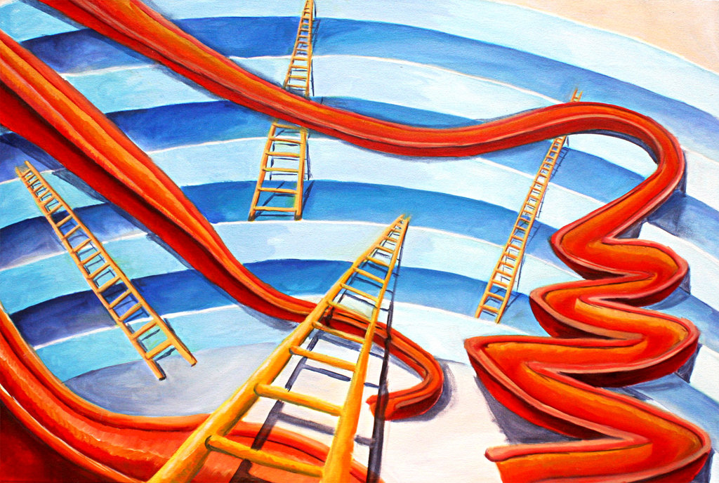 Central Banks Playing Chutes and Ladders