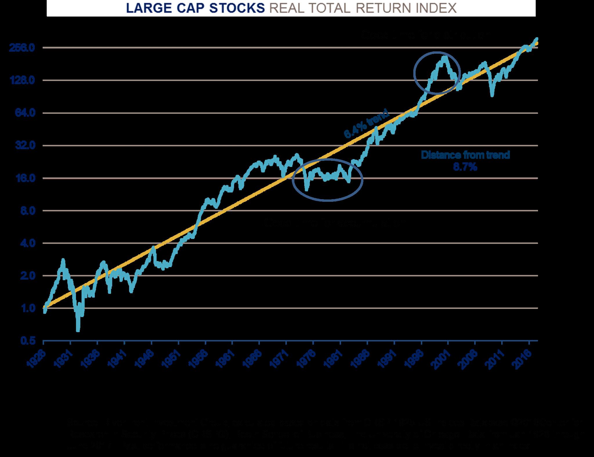 Large Cap Stocks Real Total Return Index