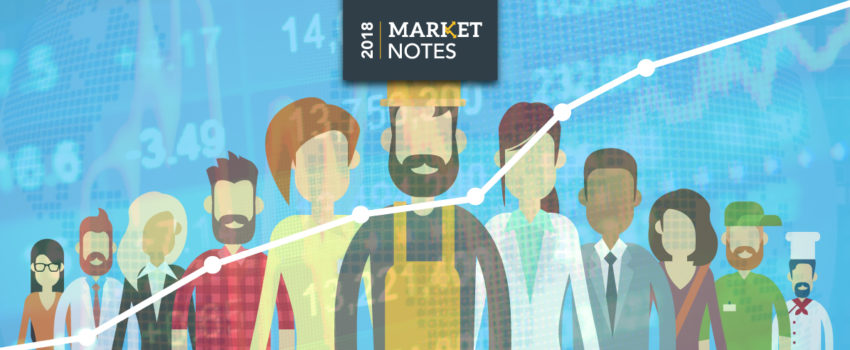 Strong Jobs Market Helps Stocks Gain Ground