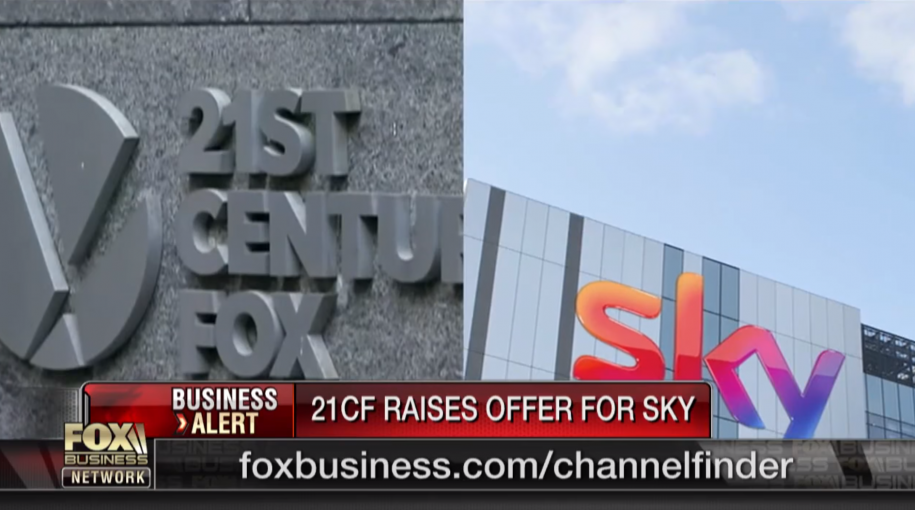 21st Century Fox Raises Sky Offer to $32.5B