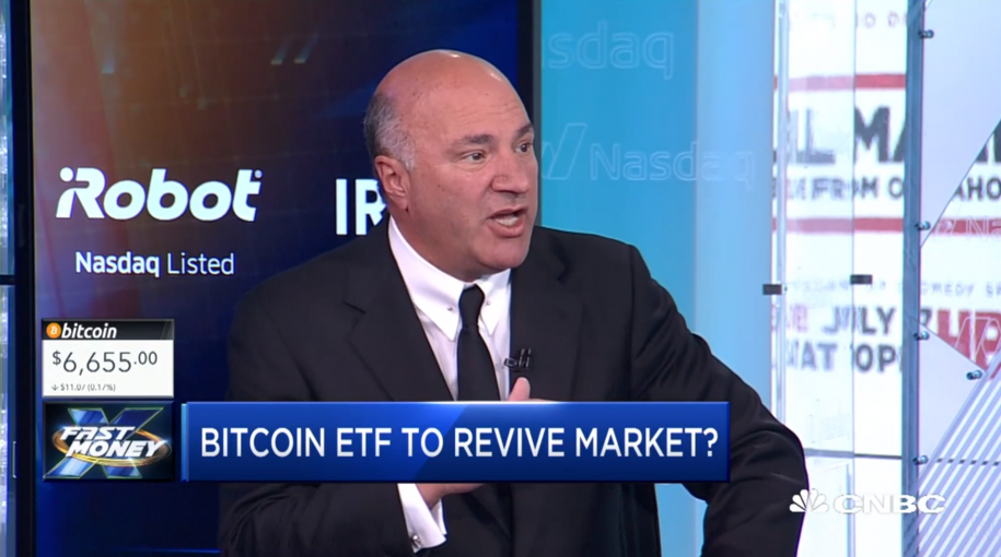 Kevin O'Leary Sees Ethereum as Top Crypto, Says Bitcoin Investors Should 'Start to Worry'