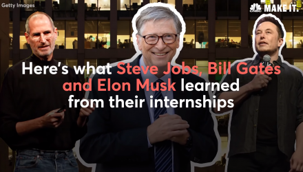 The First Internships of Elon Musk, Steve Jobs, and Bill Gates