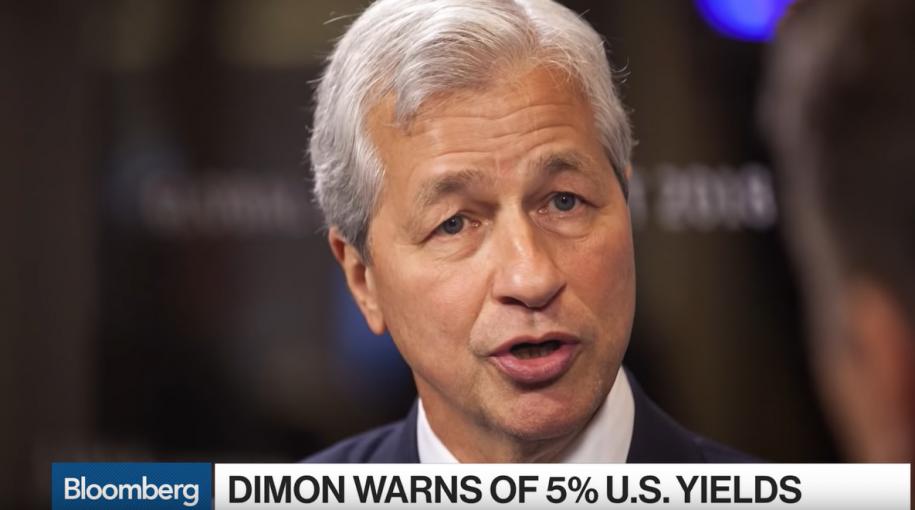 Jamie Dimon: 5% Treasury Yields Not Impossible