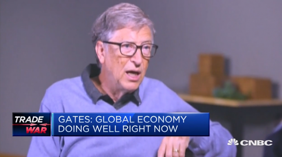Bill Gates: Current Trade Tensions are 'Scary'