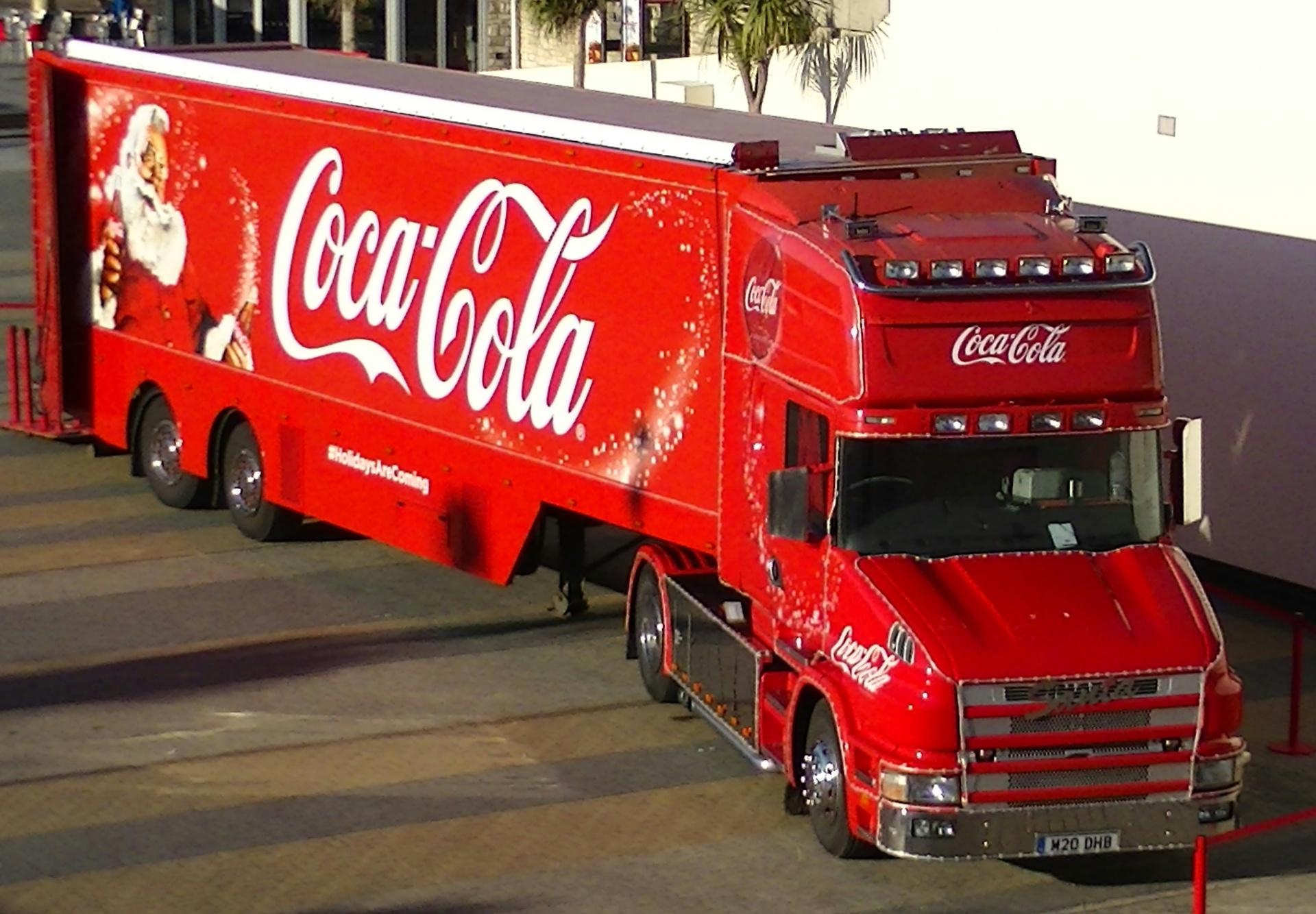Картинка грузовик кока-кола