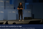 New Social Robot Unveiled Live on Stage