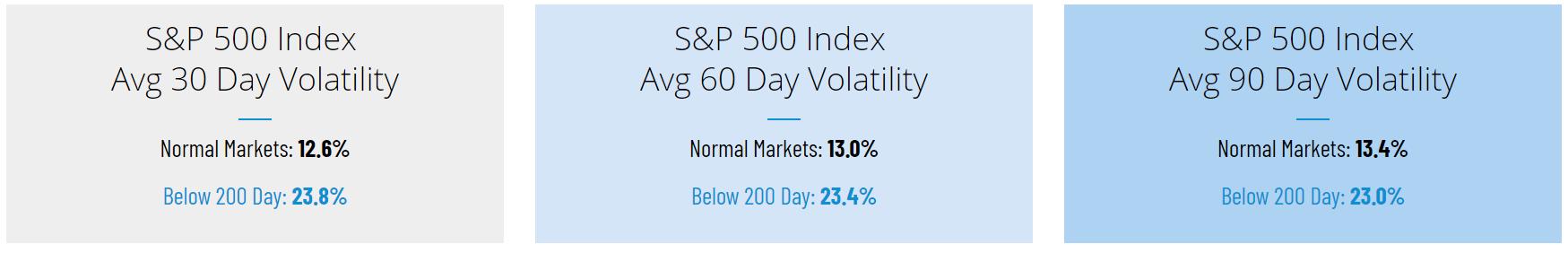 SP500 Index Volatility
