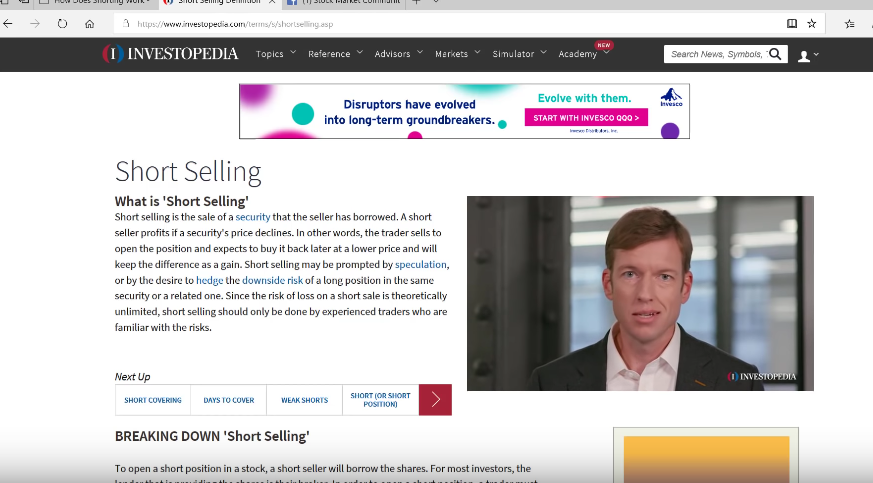 How Does Shorting Work, Short Selling Stocks