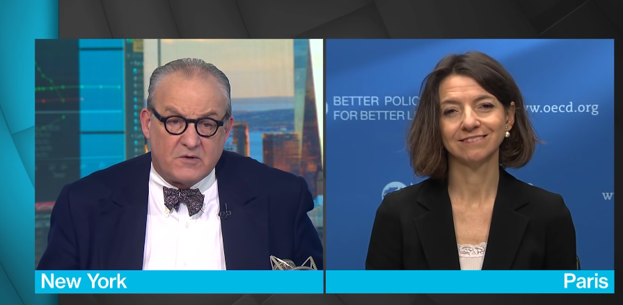 OECD's Boone Says Global Growth Has Peaked