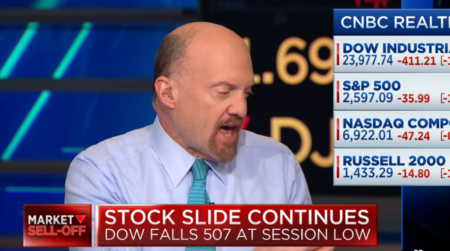"Jim Cramer: We Are Having ""Mini Flash-Crashes"" Every 15 Minutes"