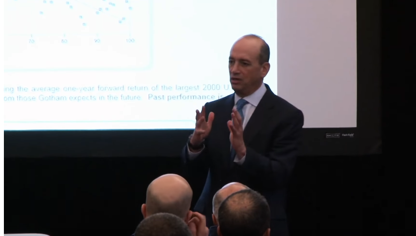 Joel Greenblatt: Valuing Stocks, Decline Of Active Management and Portfolio Structure