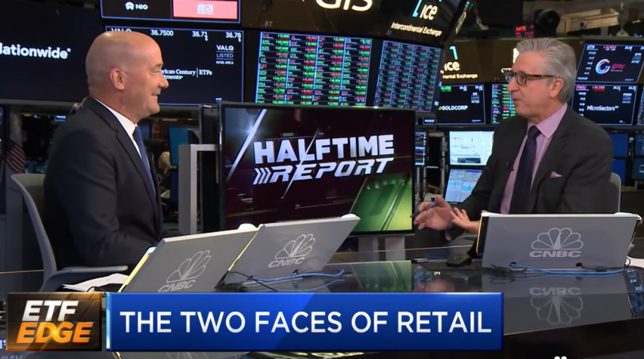 "Tom Lydon on CNBC's ""ETF Edge"": The Two Faces of Retail"