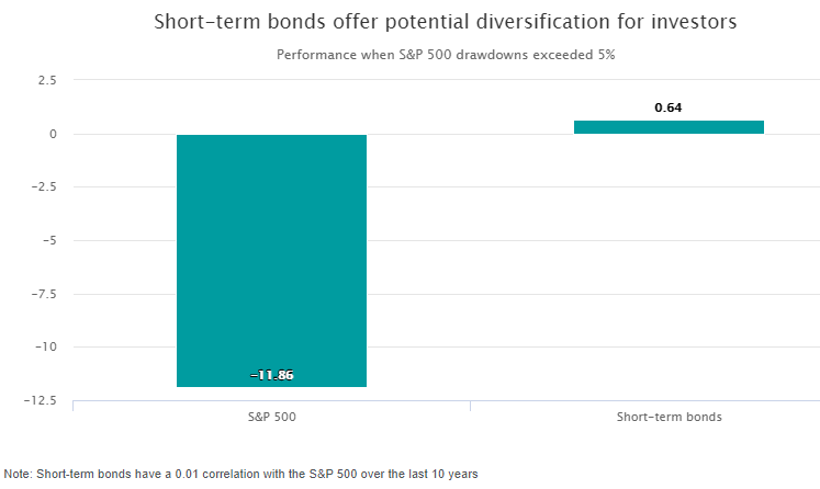 Short term bonds offer potential diversification