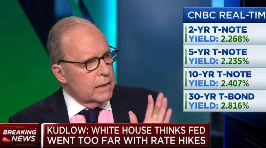 "Fed Should Cut Rates ""Immediately,"" Says White House Advisor"