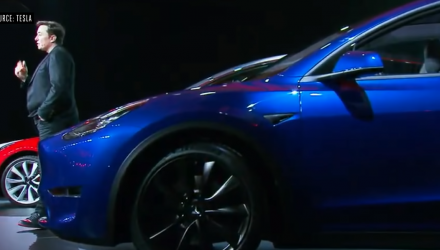 "Shares of Tesla Fall After Model Y Makes ""Underwhelming"" Debut"