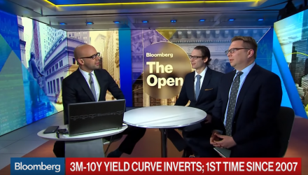 U.S. 3M-10Y Yield Curve Inverts for First Time Since 2007