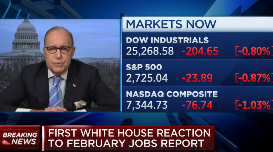 "White House Economic Advisor on Jobs Report: Don't Pay ""Any Attention to It"""