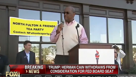 Herman Cain Bows Out of Federal Reserve Nomination