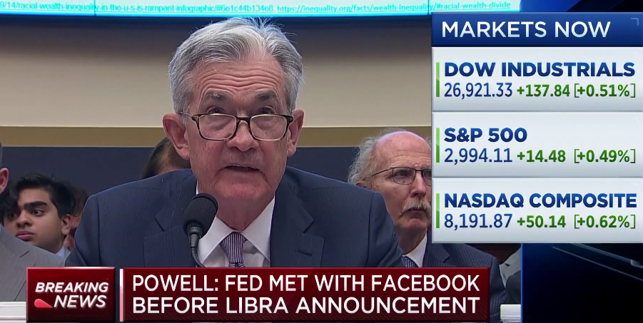 Trump and Fed Chair in Agreement on Facebook's Cryptocurrency