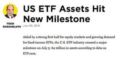 US ETF Assets Hit New Milestone