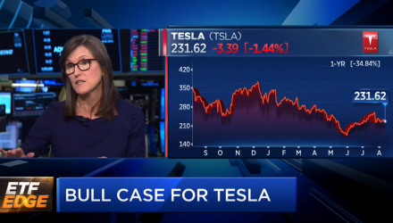 "ARK Invest CEO Cathie Wood: ""We're Pretty Excited About Tesla"""