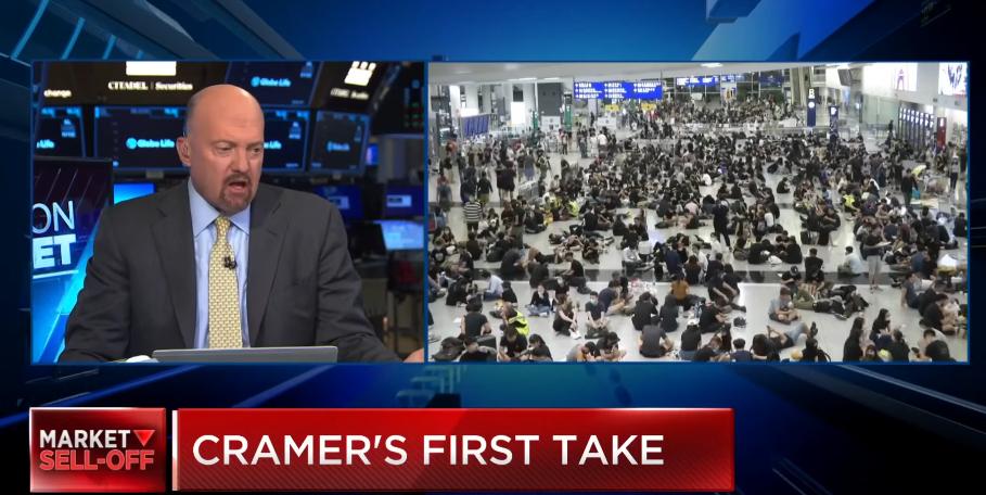Jim Cramer: Hong Kong Protests Present More Risk Than Trade War