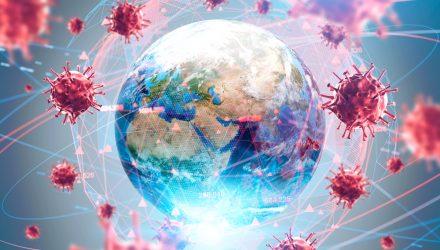 Coronavirus Data on Countries Sized by Population