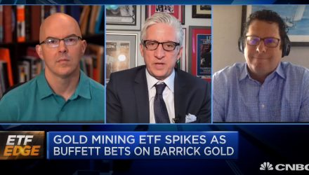 ETF Edge: As Buffett Bets On Barrick, Gold Mining Spikes