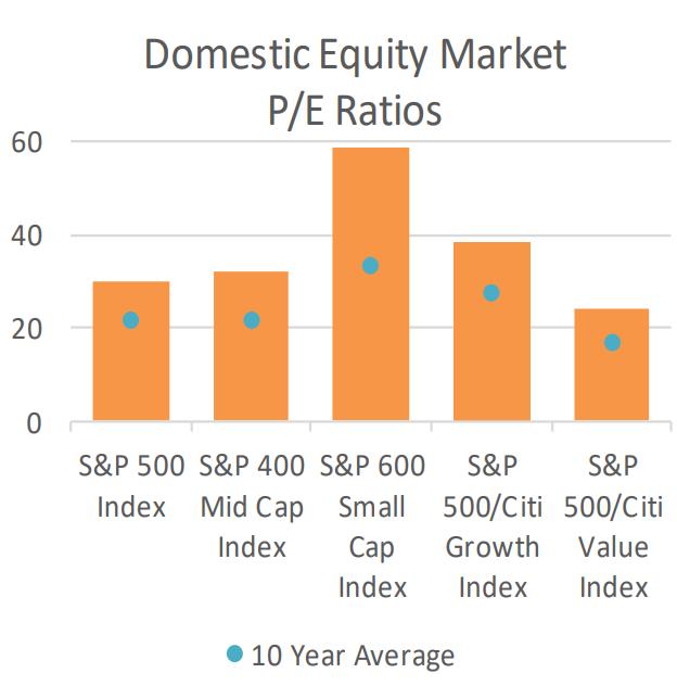 Domestic Equity Market PE Ratios