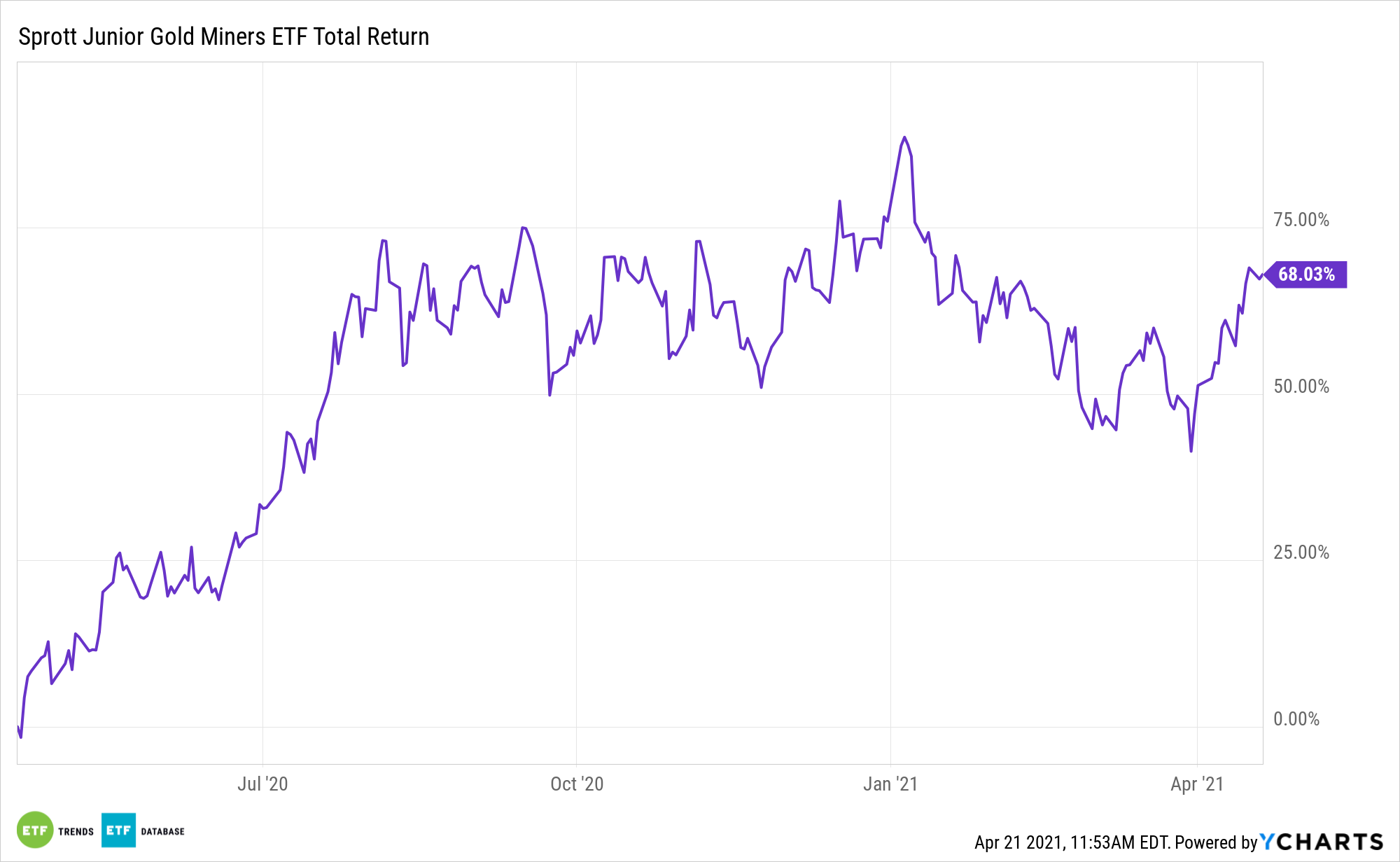 SGDJ 1 Year Total Return